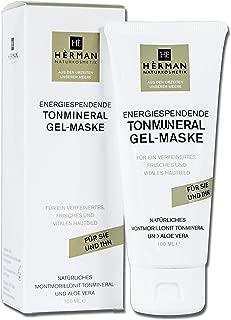 HÈRMAN Gesichtsmaske Feuchtigkeit Aloe Vera - Heilerde Naturkosmetik Vegan Maske Anti Mitesser – 100 ml Made in Germany – Tonerde Maske Gesicht für Frauen und Männer