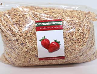 Peanuts, Chopped, 4 Pounds, Roasted, No Salt Unsalted, Great for Candy Apples, Baking, On Ice Cream Bulk, Product of USA, ...