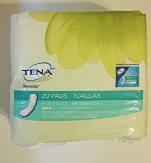 Tena Intimates Moderate Regular Pads, 20 Count, Pack of 4