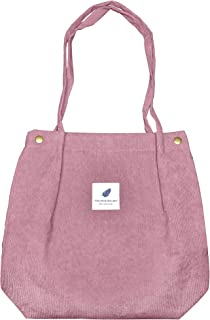 Sinobright Naoumi Cord Tote Bag Aesthetic - Beuteltasche Cord Tasche Damen Ultraleicht Einen Magnetverschluss