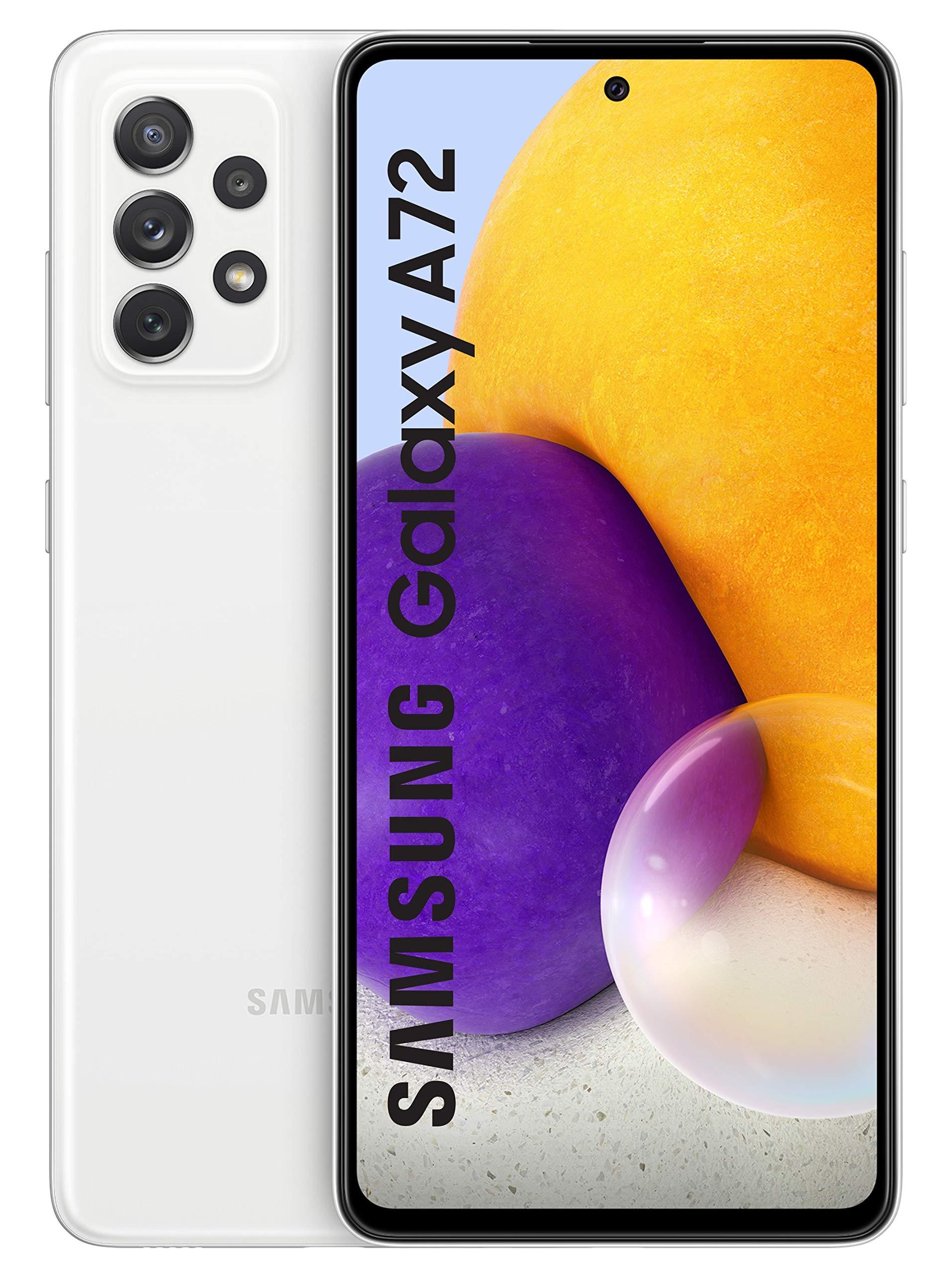 Samsung Galaxy A72 (White, 8GB RAM, 128GB Storage) with No Cost EMI/Additional Exchange Offers