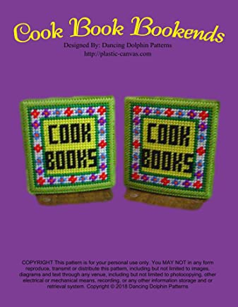 Cook Book Bookends: Plastic Canvas Pattern