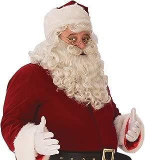 Rubie's Unisex-Adult's Premium Santa Beard and Wig Set, White, One Size