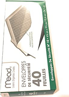Mead #10 envelopes, security, 4 1/8 in x 9 1/2 40/box