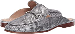 Soft Silver Tropical Snake Metallic Leather