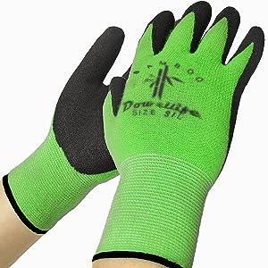 Dowellife 6 Pairs Bamboo Gardening Gloves for Women and Men, Super Soft Garden Gloves Yard Gloves and Weed Pulling Gloves for Weeding Working (Large)