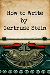 How to Write Kindle Edition