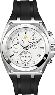 Trouvaille Watches Deluxe - White Chronograph