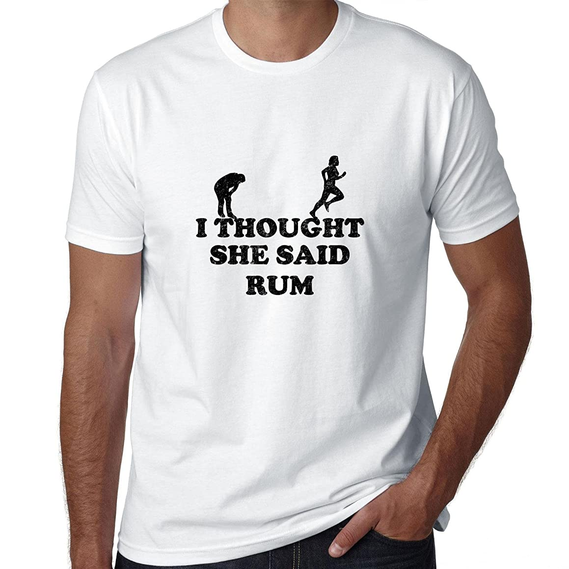 I Thought She Said Rum - Hilarious Running Graphic Men's T-Shirt