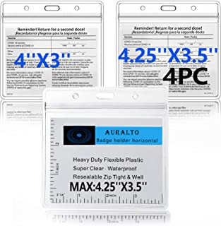Vaccine Card Protector Waterproof-4PCS , Vaccine Card Sleeve 4x3 (4.2x3.5 ) Inches , Horizontal Id Card Protection , for I...