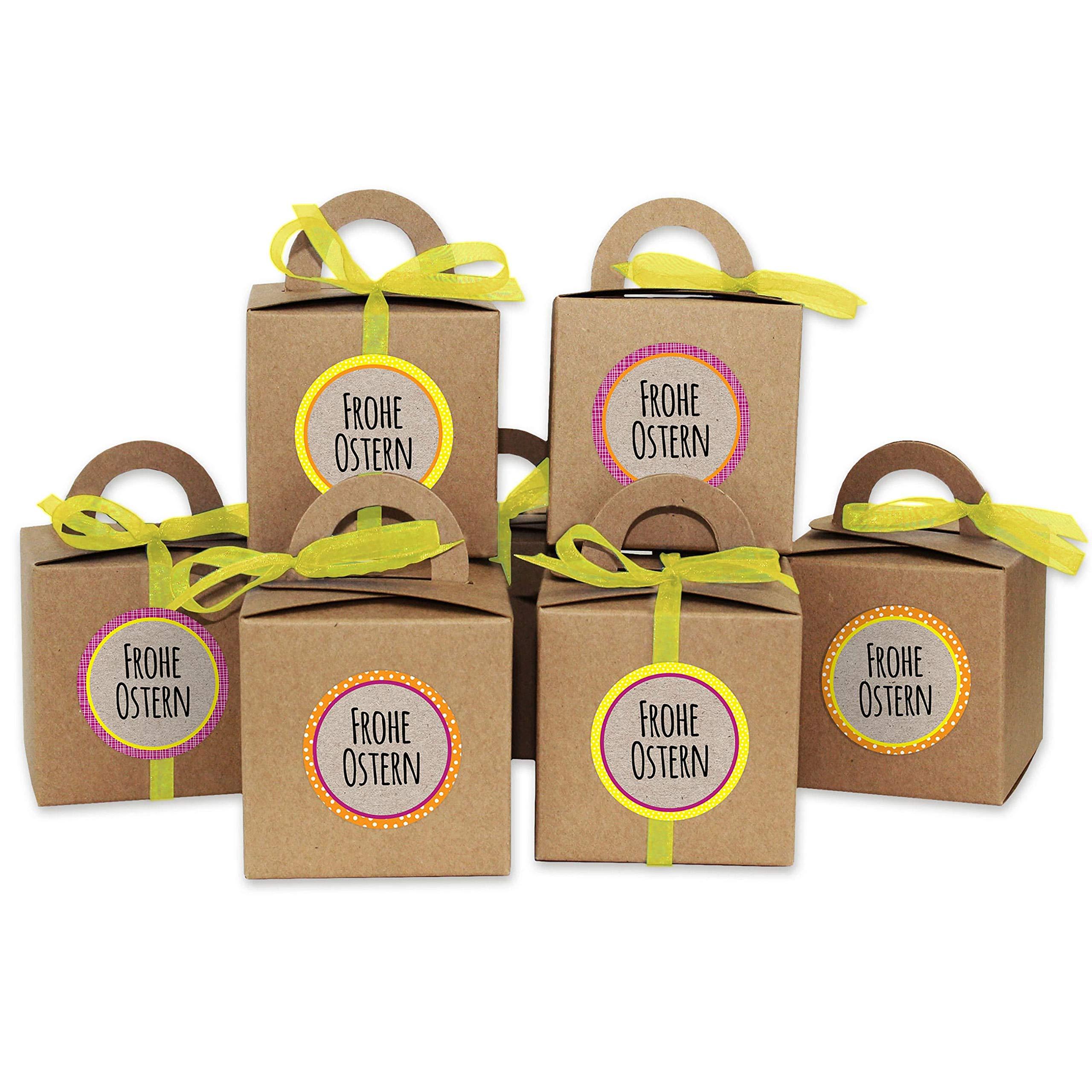Papierdrachen Cajitas de conejitos de Pascua DIY Cajitas de Regalo en marrón para Pascua - Envoltorio Elegante de Regalo - Diseño 2: Amazon.es: Hogar