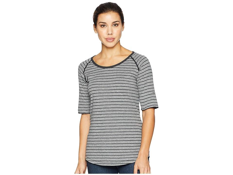 Columbia Winter Adventuretm Short Sleeve Stripe Tee (Light Grey Stripe) Women