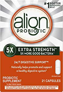 Align Probiotic Extra Strength, #1 Doctor Recommended Brand, 5X more good bacteria to Help support a healthy digestive sys...