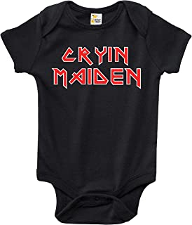 Rapunzie Baby Bodysuit - Cryin Maiden Heavy Metal Baby Clothes for Infant Boys and Girls