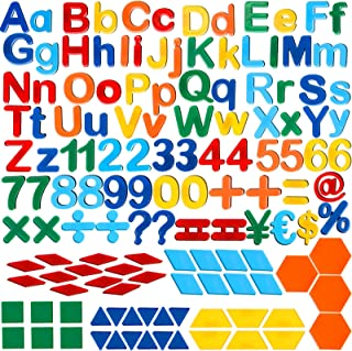 137 Pieces Magnetic Letters Numbers and Shapes Fridge Magnetic Phonics Letter Refrigerator Magnets Set for Ages Over 3 Ear...