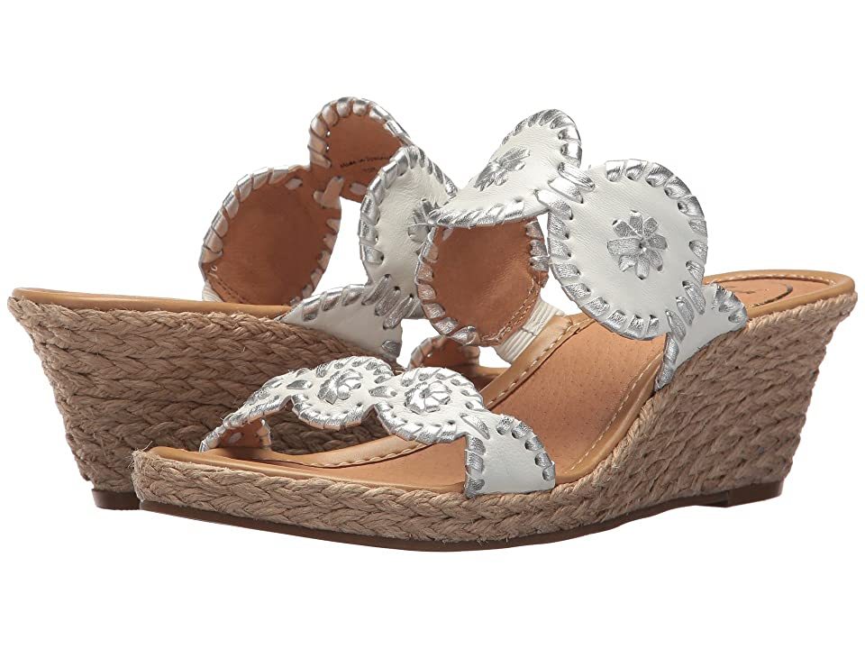 Jack Rogers Shelby (White/Silver) Women