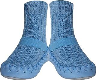 Konfetti Cable Knit Swedish Moccasin Slipper Socks