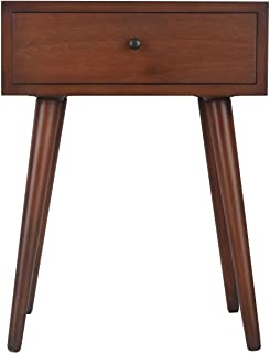 Décor Therapy Mid Century One Drawer Side Table Wood...