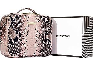 ROWNYEON Cobra Makeup Travel Case Makeup Bag Organizer Serpentine Portable Professional Artist Snake Makeup Train Case Wat...