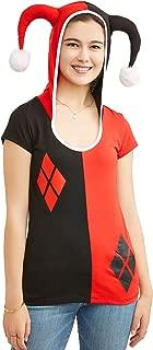 DC Comics Juniors Harley Quinn Costume Hooded T-Shirt (XL 15/17)