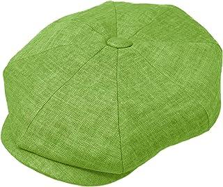 Men's 100% Linen Snap Front Newsboy Drivers Cabbie Gatsby Apple Cap Hat