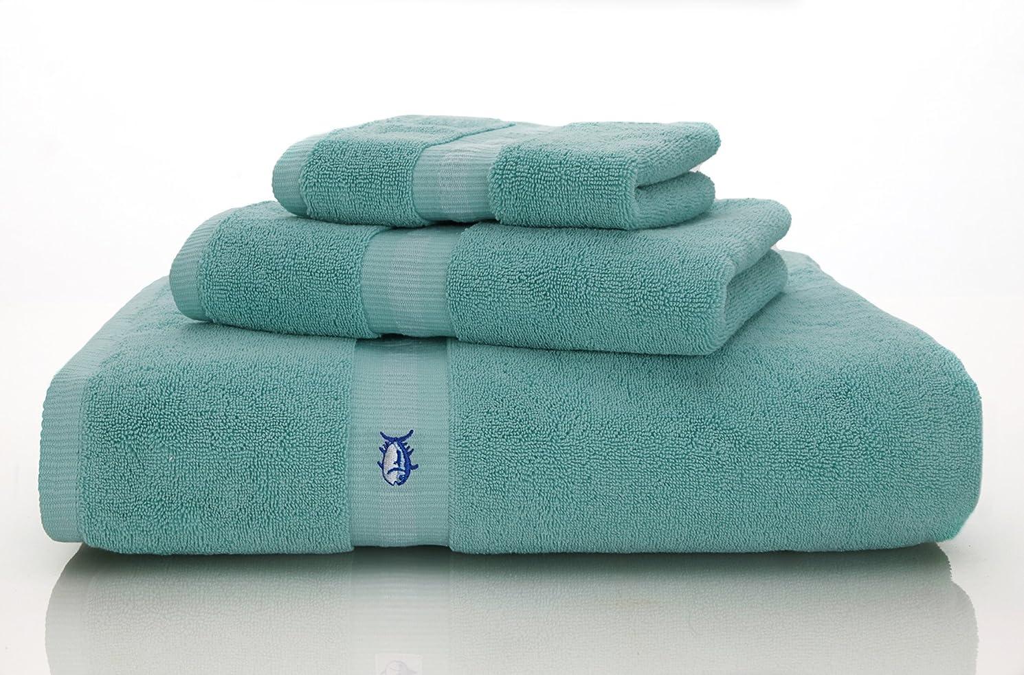 更新先に羊の服を着た狼(Hand, Offshore Green) - Southern Tide Skip Jack Hand Towel, 41cm by 70cm, Off Shore Green