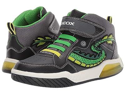 Geox Kids Jr Inek 7 (Big Kid) (Black/Green) Boys Shoes