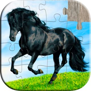 Cute Horse Puzzles for Kids - Free Trial Edition - Fun and Educational Jigsaw Puzzle Game for Kids and Preschool Toddlers, Boys and Girls 2, 3, 4, or 5 Years Old
