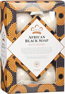Nubian Heritage African Black Soap Bath Bomb by Nubian Heritage for Unisex - 6 x 1.6 oz Bubble Bath, 6 count