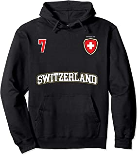 Sweden Team Hoodie No. 7 Sports Swedish Flag Soccer Shirt
