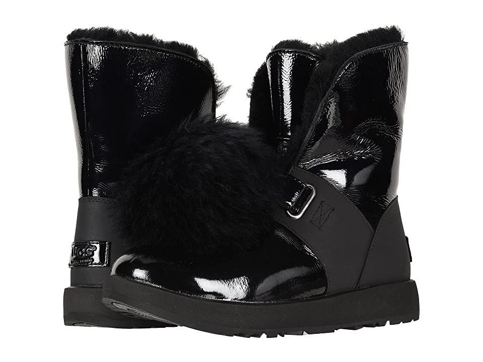 UGG Isley Patent Waterproof Boot (Black) Women
