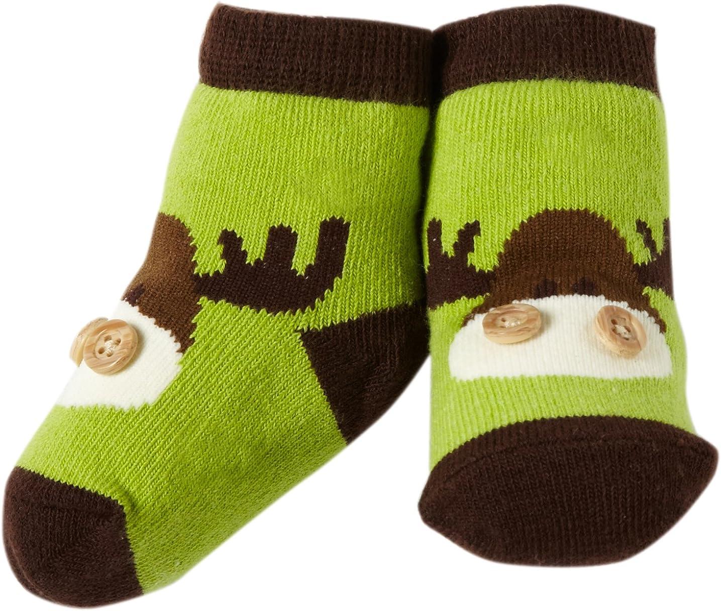 Mud Pie Baby-Boys At the price of surprise Newborn Green Socks Max 87% OFF Moose
