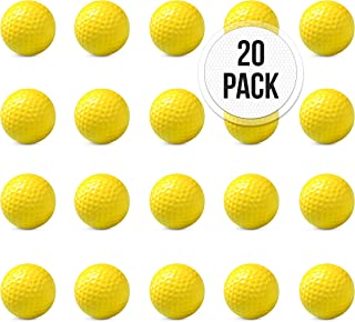 Foam Practice Golf Balls Pack of 20 Foam Golf Balls Golf Training Balls   Foam Balls for Golf for Driving Range, Swing Practice, Outdoor + Indoor Home Use, Putting, Lightweight Foam Practice Golf Ball