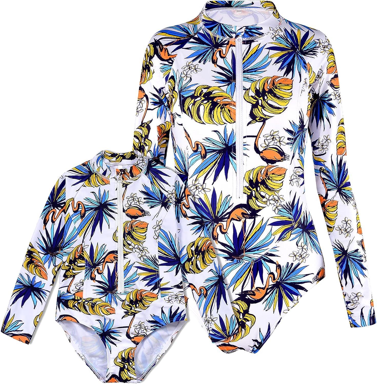 Cadocado Mommy and Me Matching Swimsuit Off Shoulder Swimwear Ruffle Women Swimwear Kids Toddler Bikini Bathing Suit