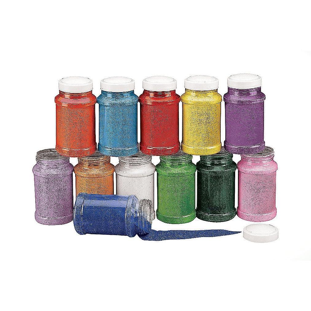 Colorful Rainbow Craft Sand Assortment (12 Pc) 22 Oz. Per Bottle, 12 Huge Bottles