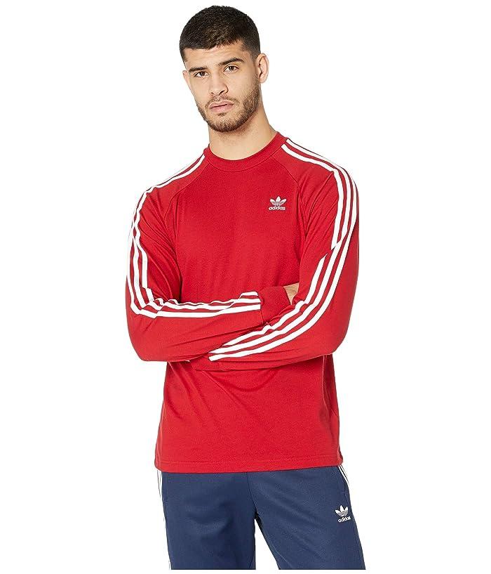 adidas Originals 3-Stripes Long Sleeve Tee (Power Red) Men