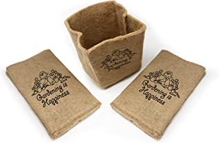 Organic Jute Grow Pots - 7 Gallon Fabric Grow Bags, Eco-Friendly Planters for Your Garden! When Planting is This Easy, Gardening is Happiness. (3X Pack)