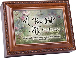 Cottage Garden A Beautiful Life Celebrated Woodgrain Jewelry Music Box Plays How Great Thou Art