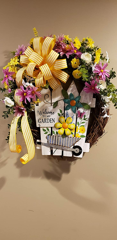Trust Welcome to my Grapevine Wreath Award Garden