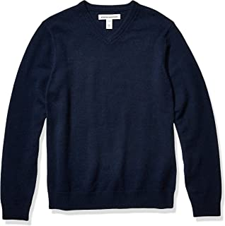 Men's Midweight V-Neck Cotton Sweater
