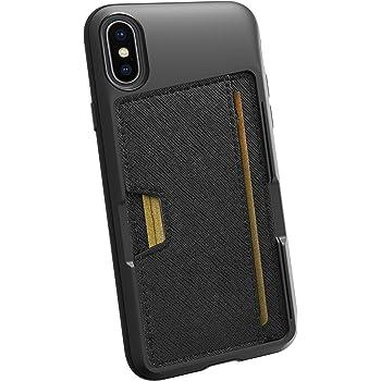 Smartish iPhone X/XS Wallet Case - Wallet Slayer Vol. 2 [Slim Protective Kickstand] Credit Card Holder for Apple iPhone 10s/10 (Silk) - Black Tie Affair