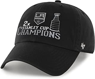 NHL Los Angeles Kings '47 Brand 2014 2-Time Stanley Cup Champions Clean Up Adjustable Hat, Black, One Size