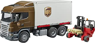 Bruder 03581 Scania R-Series Ups Logistics Truck with Forklift Vehicles - Toys