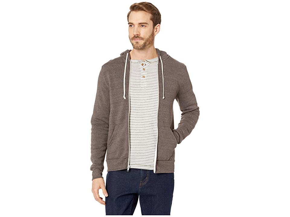 Alternative Rocky Eco-Fleece Zip Hoodie (Eco True Mocha) Men