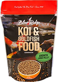 Blue Ridge Fish Food Pellets Koi and Goldfish Growth Formula, Floating 3/16