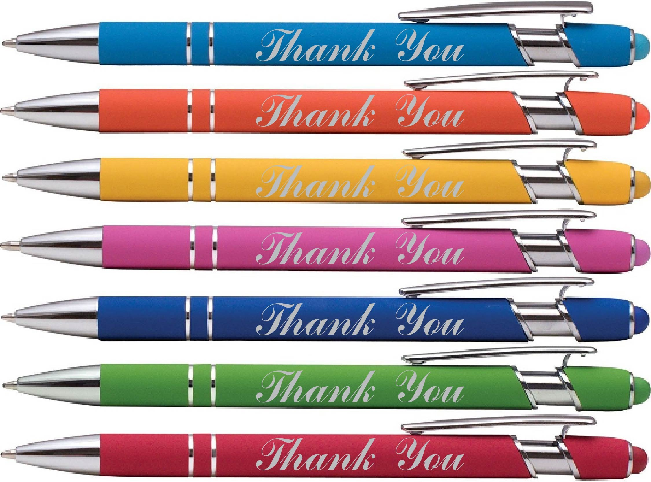 wording imprinted Rubberized Ballpoint Assorted