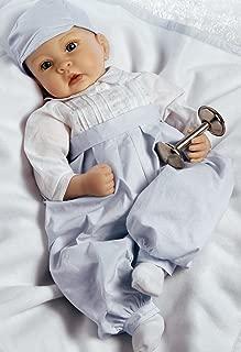 Paradise Galleries Reborn Baby Boy in Silicone Vinyl, 22 inch Newborn Doll Royal Baby Prince George, 5-Piece Doll Ensemble