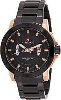 Naviforce Men's Black Dial Stainless Steel Analogue Classic Watch - NF9085-RGB