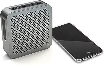 JLab Audio Crasher Mini, Metal Build Portable Splashproof Bluetooth Speaker with 10 Hour Battery - Black