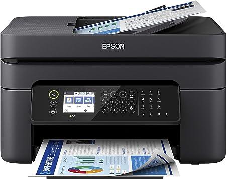 -Epson WorkForce WF-2850DWF 4-in-1 inkjetprinter, printer (scannen, kopiëren, fax, WiFi, ADF, Duplex, afzonderlijke patronen, DIN A4) Amazon Dash Replenishment, zwart-aanbieding